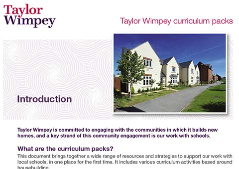 Taylor Wimpey curriculum packs